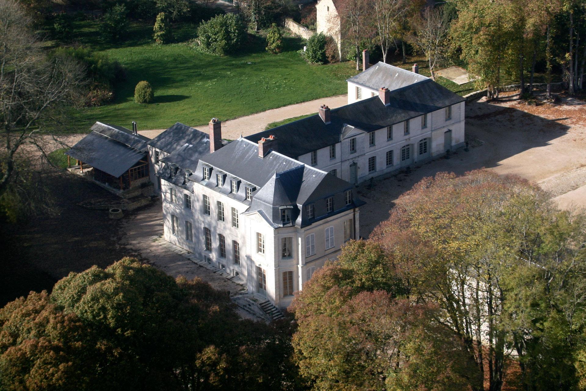 Château de Maudétour vue du ciel
